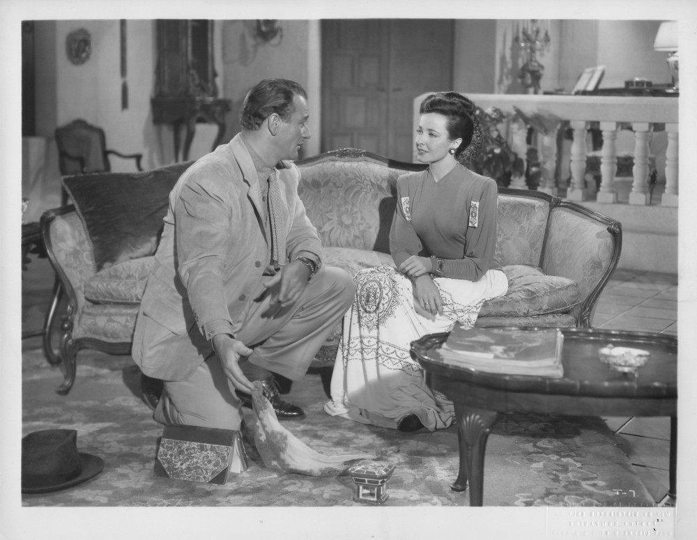 Laraine Day در صحنه فیلم سینمایی Tycoon به همراه John Wayne