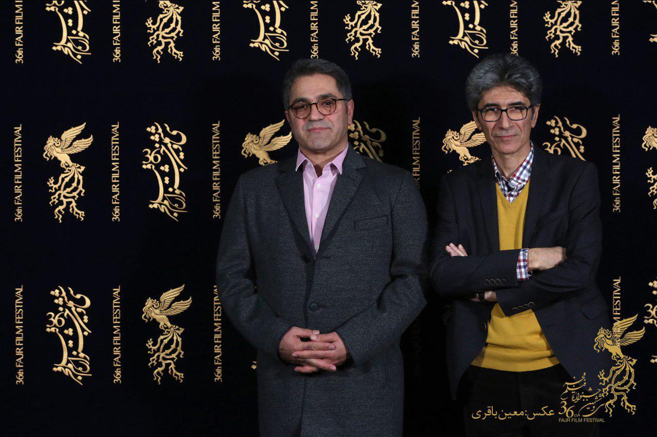 سید امیر پروین حسینی در جشنواره فیلم تلویزیونی خجالت نکش به همراه رضا مقصودی