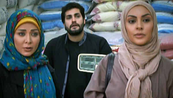 فقیه سلطانی در صحنه سریال تلویزیونی مثل شیشه به همراه زیبا بروفه و امیرمحمد زند