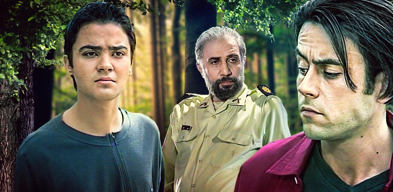فرامرز صدیقی در صحنه سریال تلویزیونی چراغهای خاموش به همراه مهدی سلوکی و رحیم نوروزی