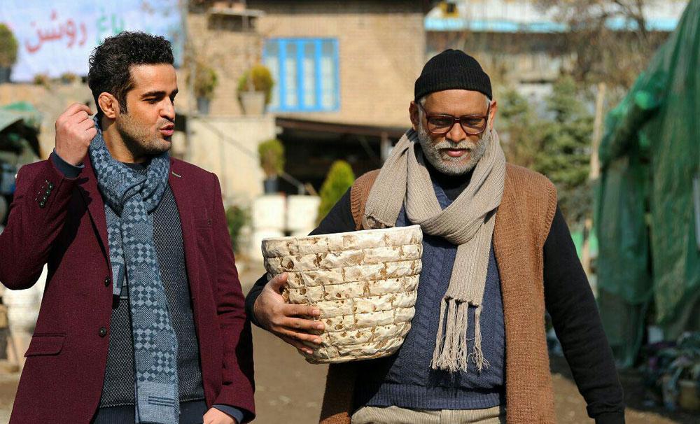 حسین باشه آهنگر و مجتبی پیرزاد در فیلم دریاچه ماهی