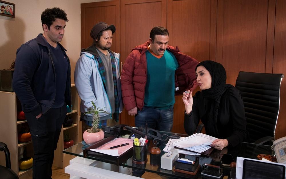 مهران غفوریان و علی صادقی در فیلم سینمایی خالتور