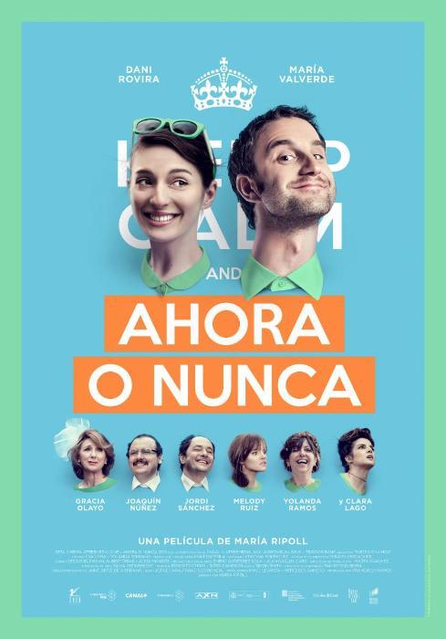 Clara Lago در صحنه فیلم سینمایی Ahora o nunca به همراه María Valverde و Dani Rovira