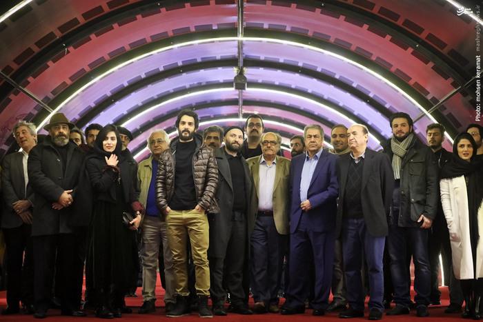 جهانگیر کوثری در جشنواره فیلم سینمایی پل خواب به همراه ساعد سهیلی، اکبر زنجانپور، آناهیتا افشار و سپیده عبدالوهاب