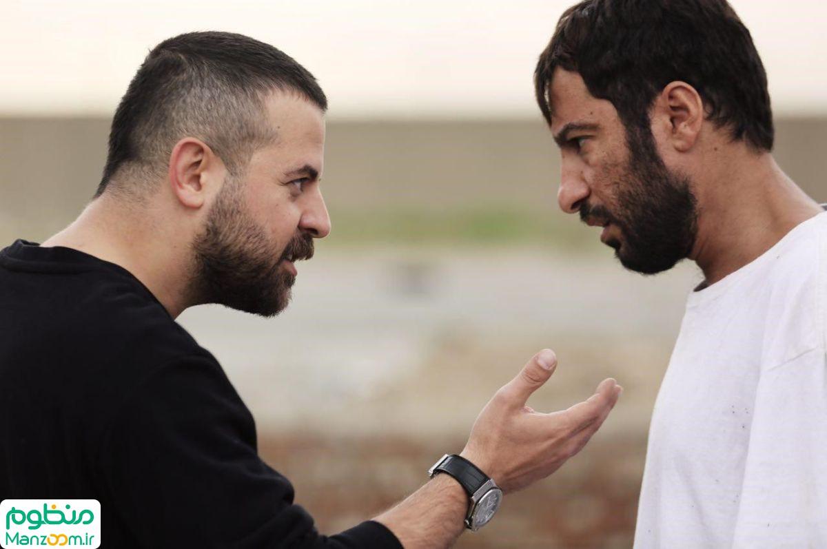 نوید محمدزاده و هومن سیدی در فیلم سینمایی مغزهای کوچک زنگ زده