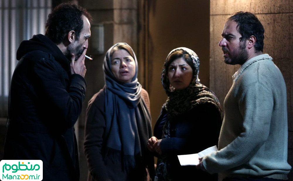 مهتاب نصیرپور در صحنه فیلم سینمایی آستیگمات به همراه محسن کیایی و باران کوثری