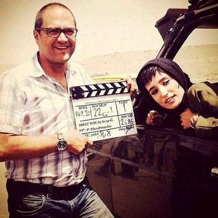 نگار جواهریان و رامبد جوان در پشت صحنه فیلم نگار