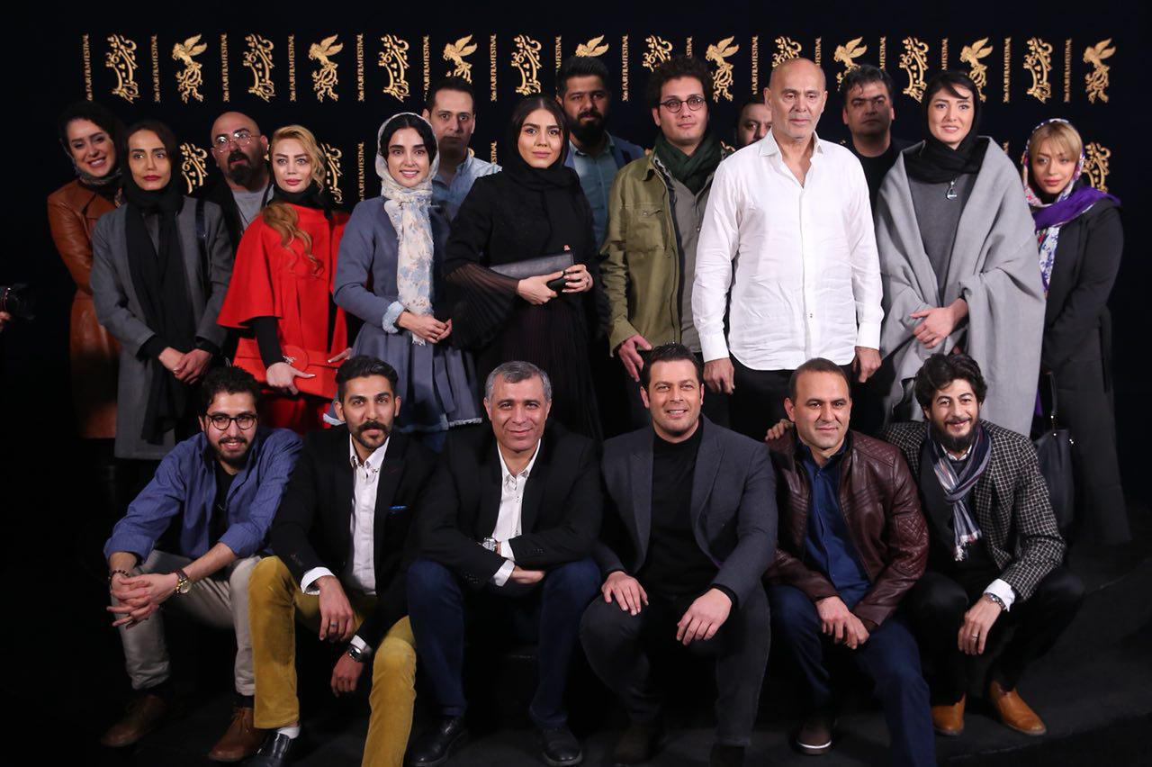 مینا وحید در جشنواره فیلم سینمایی هایلایت به همراه الهه حصاری، پژمان بازغی، آزاده زارعی، اصغر نعیمی و جمشید هاشمپور