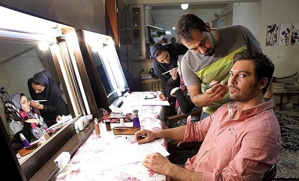 رسول سید عربی در پشت صحنه فیلم سینمایی دو عروس به همراه دانیال عبادی