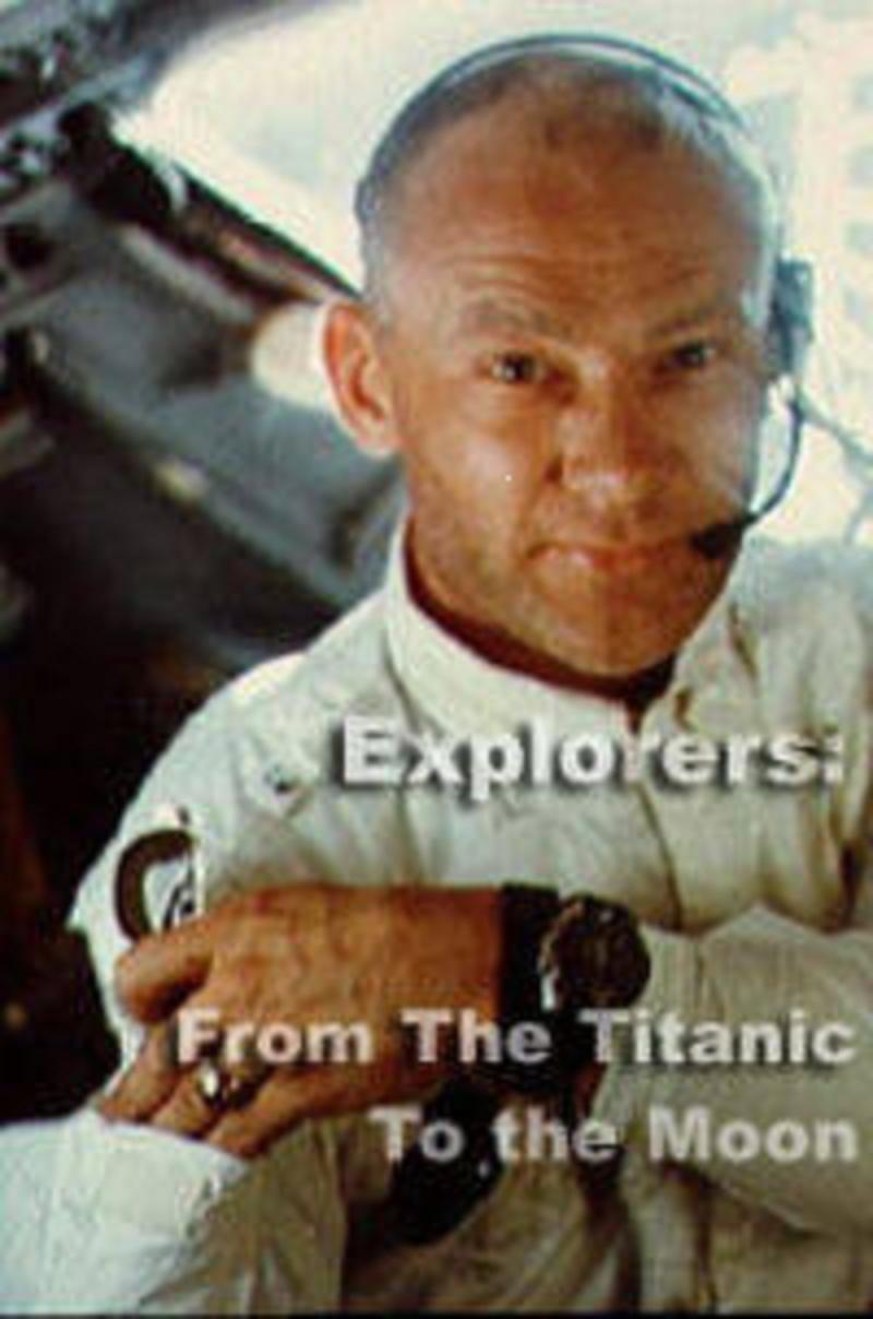 Buzz Aldrin در صحنه فیلم سینمایی Explorers: From the Titanic to the Moon
