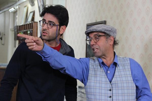سید جواد زیتونی در صحنه سریال تلویزیونی مرز خوشبختی به همراه امیرحسین آرمان