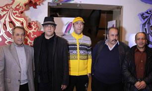 حسن آقاکریمی در جشنواره فیلم سینمایی فرار از اردو به همراه غلامرضا رمضانی و علیرضا مهران