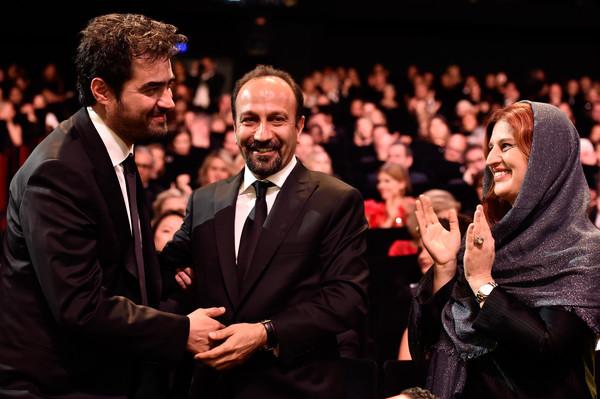 پریسا بختآور در جشنواره فیلم سینمایی فروشنده به همراه سید شهاب حسینی و اصغر فرهادی