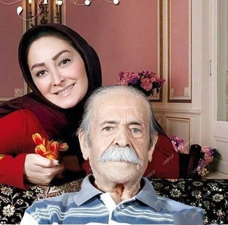 تصویری شخصی از محمدعلی کشاورز، بازیگر و کارگردان سینما و تلویزیون به همراه الهام حمیدی