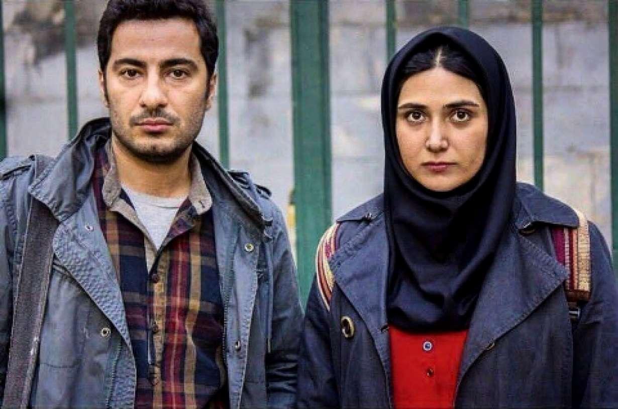 باران کوثری و نوید محمدزاده در فیلم سینمایی عصبانی نیستم