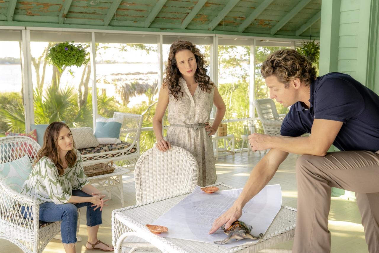 Donny Boaz در صحنه فیلم سینمایی The Beach House به همراه Minka Kelly و اندی مک  داول