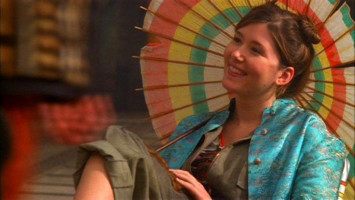 Jewel Staite در صحنه سریال تلویزیونی فایرفلای