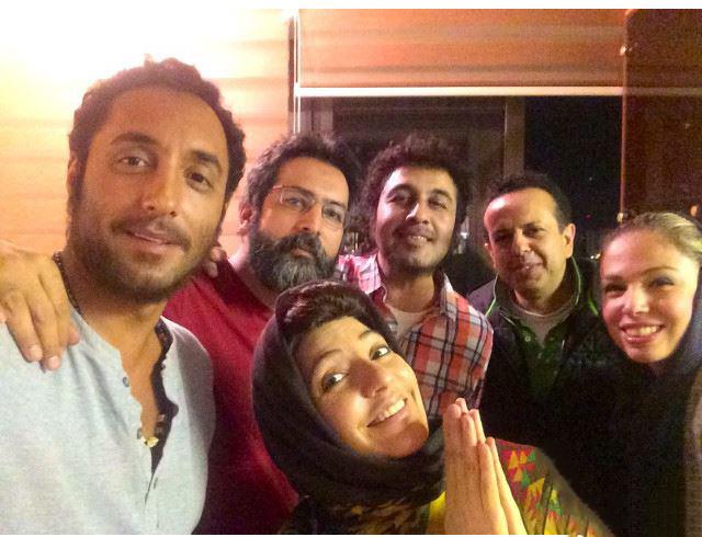 مهناز افشار و رضا عطاران در پشت صحنه فیلم نهنگ عنبر 2