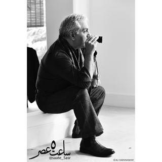 مهران مدیری در پشت صحنهی فیلم سینمایی ساعت 5 عصر