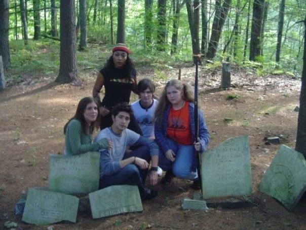 Matt Dallas در صحنه فیلم سینمایی Camp Slaughter به همراه Joanna Suhl، Bethany Taylor، Kyle Lupo و Anika C. McFall