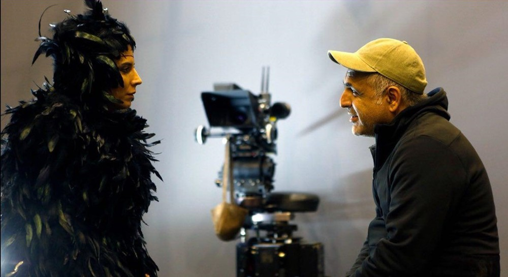 لیلا حاتمی و مانی حقیقی در پشت صحنه فیلم سینمایی خوک