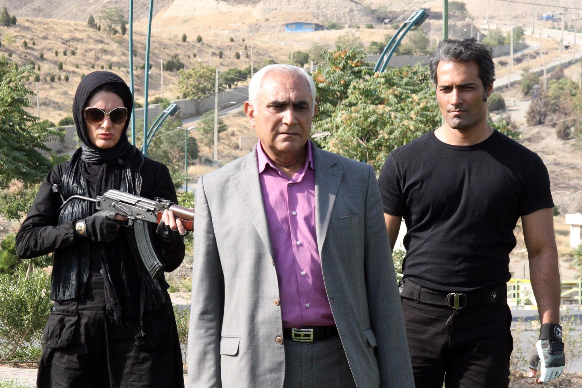 ناصر ممدوح در صحنه فیلم سینمایی تارات به همراه پدرام بهرامیفر
