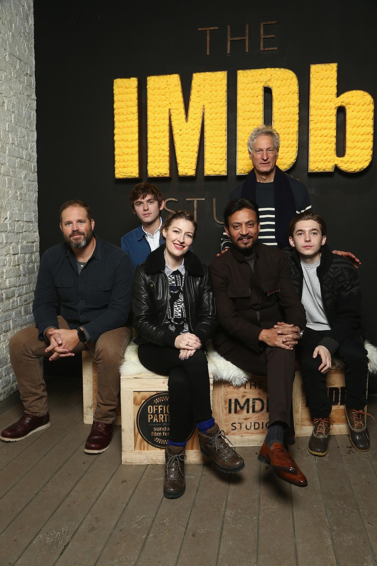 دیوید دنمان در صحنه فیلم سینمایی Puzzle به همراه Marc Turtletaub، Austin Abrams، عرفان خان، کلی مکدونالد و Bubba Weiler