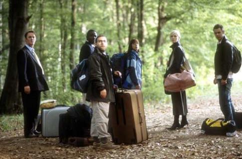 Babou Ceesay در صحنه فیلم سینمایی Severance به همراه Claudie Blakley، Danny Dyer، Andy Nyman، Tim McInnerny و Laura Harris