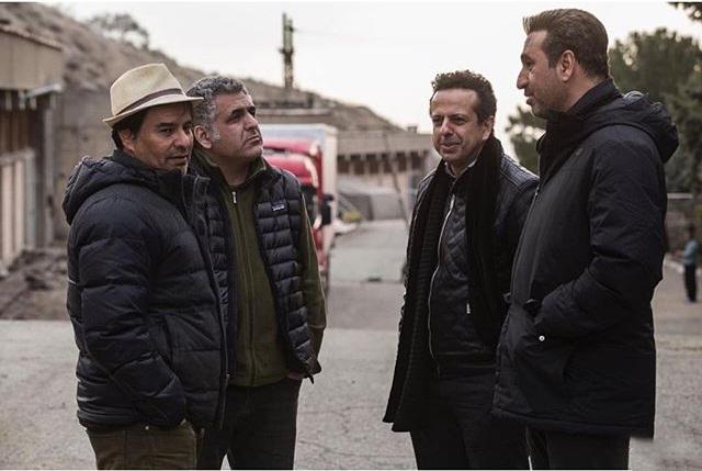 پیمان قاسمخانی و حمید فرخنژاد در پشت صحنه فیلم خوب بد جلف