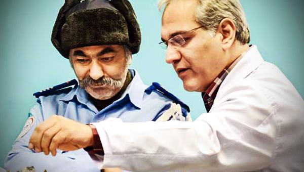 مهران مدیری و محمدرضا هدایتی در فیلم در حاشیه