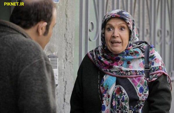شهین تسلیمی در صحنه سریال تلویزیونی «زوج یا فرد» به همراه مهران غفوریان