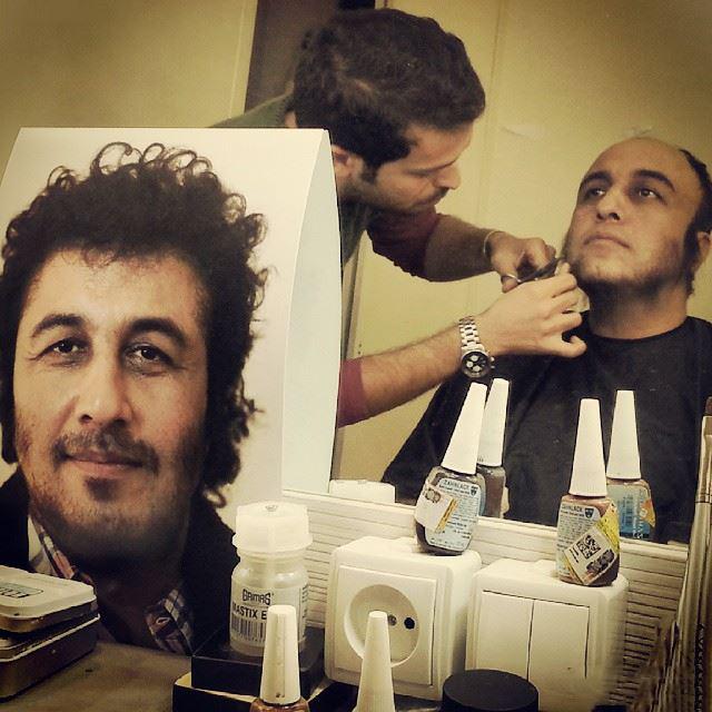رضا عطاران در پشت صحنه  فیلم نهنگ عنبر 2