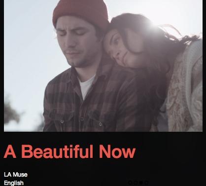 John Patrick Amedori در صحنه فیلم سینمایی A Beautiful Now