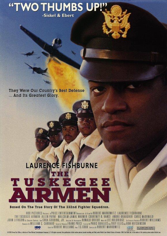 Malcolm-Jamal Warner در صحنه فیلم سینمایی The Tuskegee Airmen به همراه لارنس فیشبرن، کورتنی بی. ونس، کوبا گودینگ جونیور و Allen Payne