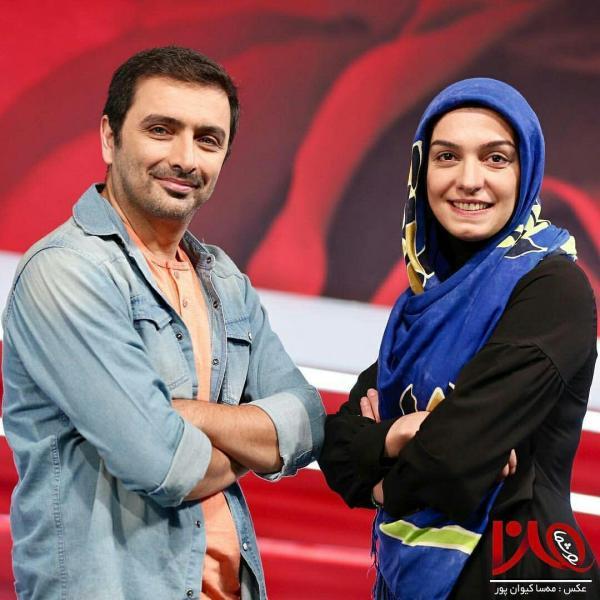 امید زندگانی در پشت صحنه برنامه تلویزیونی من و شما به همراه الیکا عبدالرزاقی