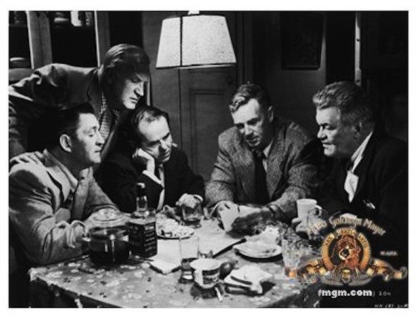 Ted de Corsia در صحنه فیلم سینمایی کشتار به همراه Jay C. Flippen، Elisha Cook Jr.، Joe Sawyer و استرلینگ هایدن