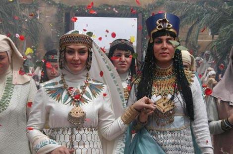 الهام حمیدی و لیلا بلوکات در سریال یوسف پیامبر