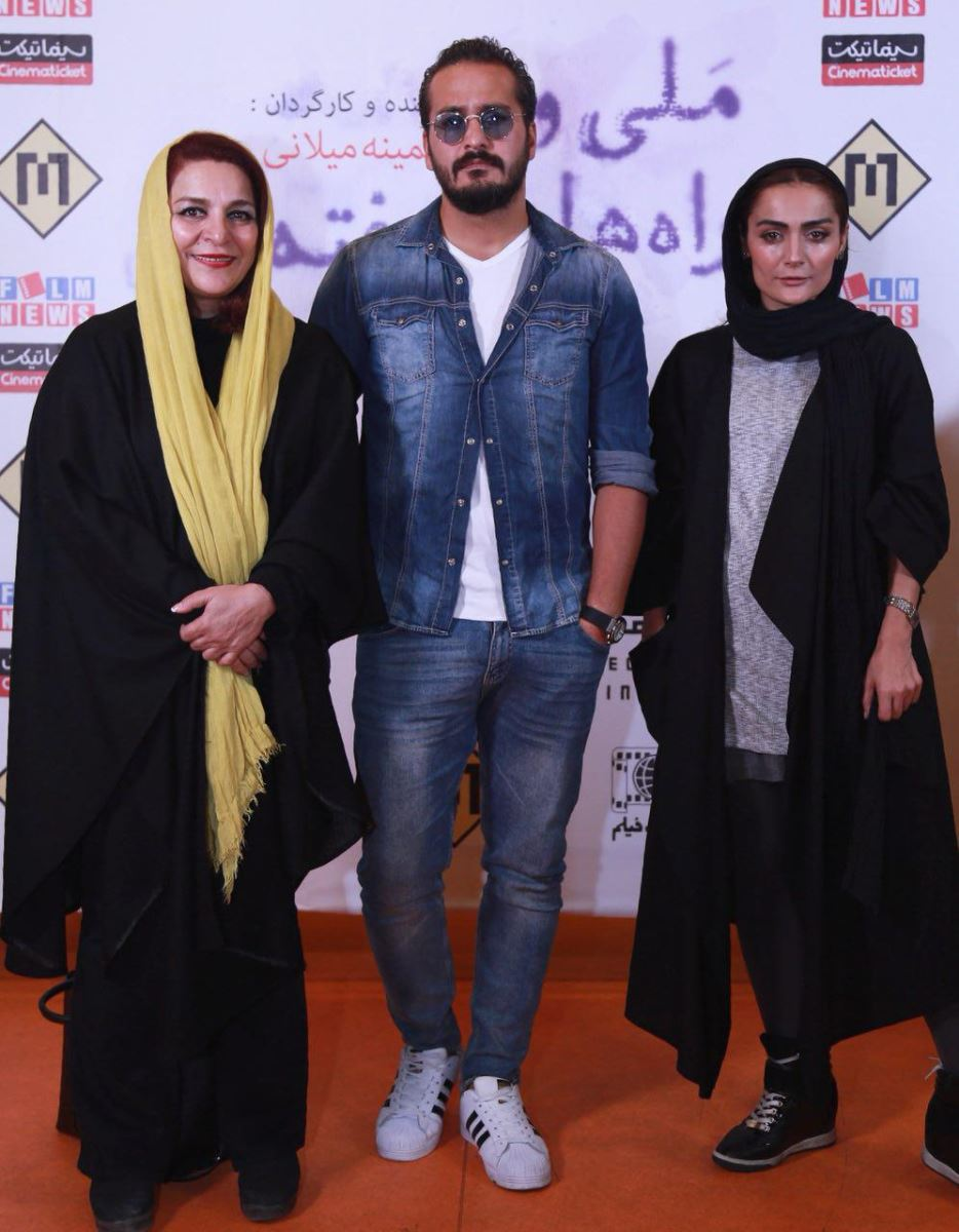 السا فیروزآذر در اکران افتتاحیه فیلم سینمایی ایتالیا ایتالیا به همراه میلاد کیمرام و تهمینه میلانی