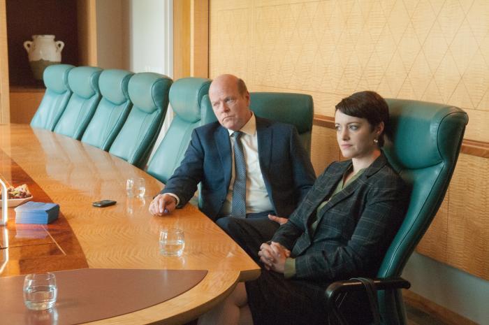 Rex Linn در صحنه سریال تلویزیونی بهتره با سال تماس بگیری به همراه Cara Pifko