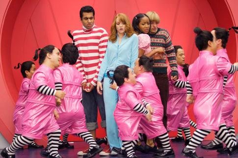 Jayma Mays در صحنه فیلم سینمایی حماسه به همراه Adam Campbell، Kal Penn و Faune Chambers Watkins