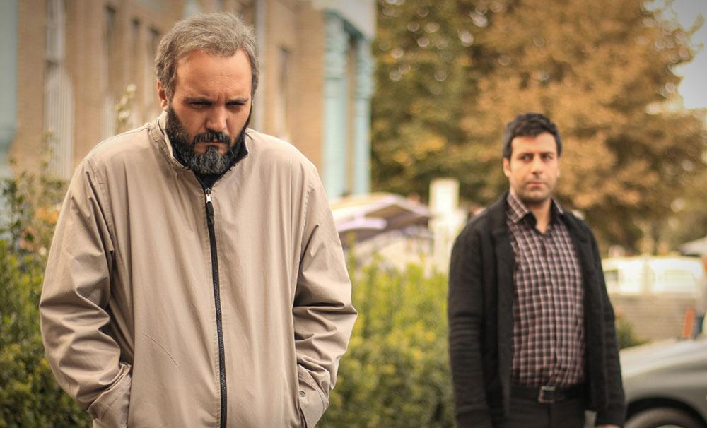 کامبیز دیرباز و مجید واشقانی در سریال تلوزیونی زیر پای مادر
