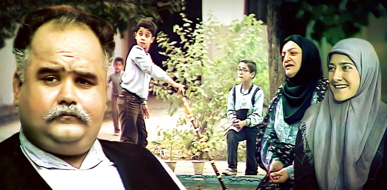 شهلا ریاحی در صحنه سریال تلویزیونی در خانه به همراه اکبر عبدی و رویا افشارینسب