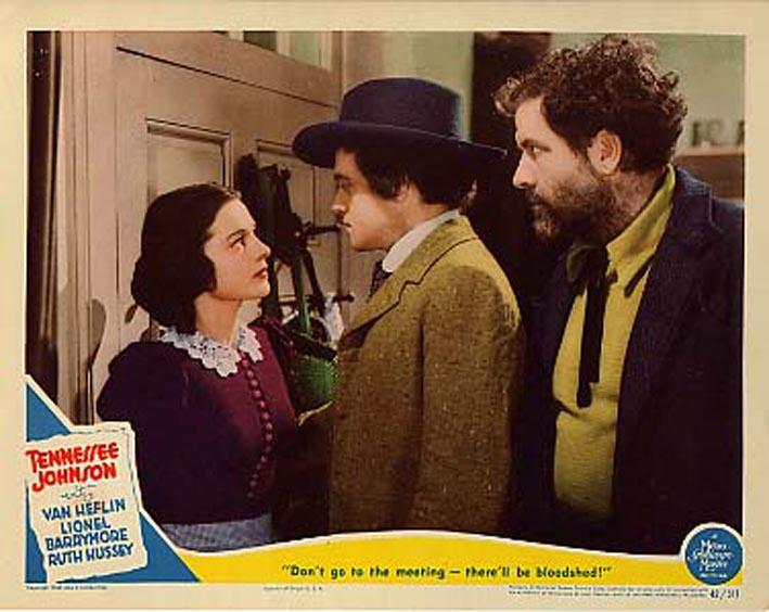 Ruth Hussey در صحنه فیلم سینمایی Tennessee Johnson به همراه Van Heflin و Grant Withers
