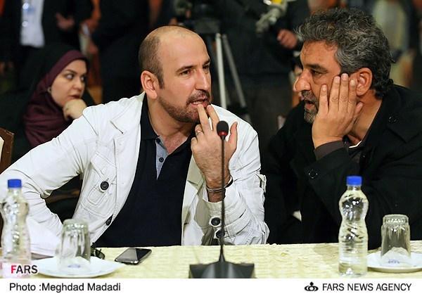 صالح میرزا آقایی در نشست خبری سریال تلویزیونی مختارنامه به همراه جعفر دهقان