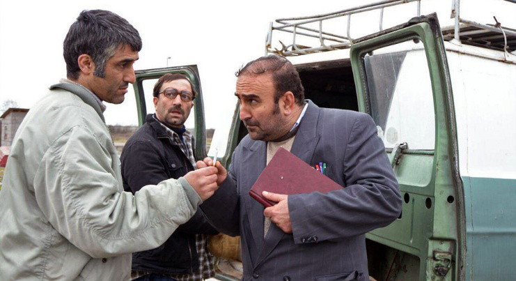 مهران احمدی و پژمان جمشیدی در فیلم سینمایی من یک دیوانه نیستم