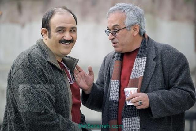 محمدحسین لطیفی در صحنه سریال تلویزیونی زوج یا فرد به همراه مهران غفوریان