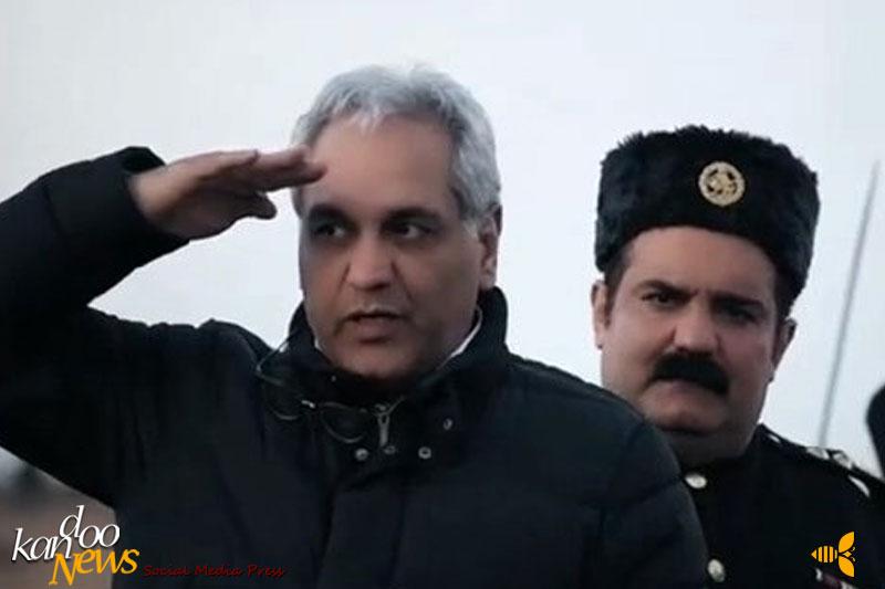میرطاهر مظلومی در صحنه سریال شبکه نمایش خانگی هیولا به همراه مهران مدیری