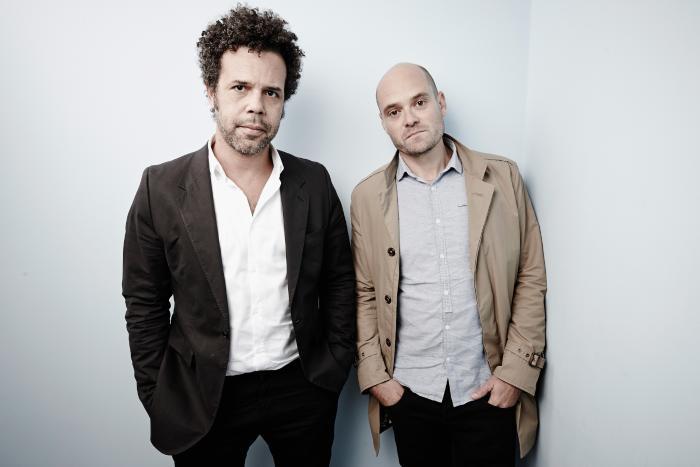 Mikael Marcimain در صحنه فیلم سینمایی Gentlemen به همراه David Dencik