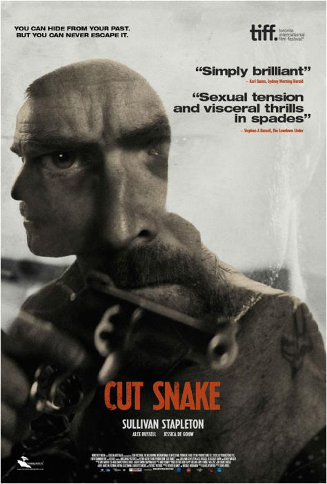 Megan Holloway در صحنه فیلم سینمایی Cut Snake به همراه Alex Russell، Sullivan Stapleton و Jessica De Gouw