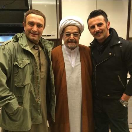 حمید لولایی و امین حیایی در فیلم سه بیگانه